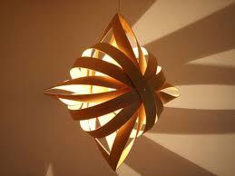 Toshiyuki Tani Shuriken (ninjastar) lamp via Kozai Designs | sculpture  class | Pinterest | Shuriken, Paper lamps and Lights