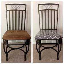 the pursuit of happiness diy recover kitchen chairs