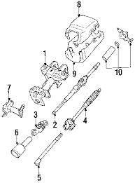 parts com® toyota pickup steering column components oem parts 1992 toyota pickup dlx l4 2 4 liter gas steering column components