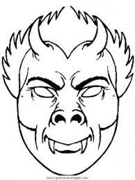 Kleurplaat Vampier Masken 32 Gratis Malvorlage In Masken Spiele