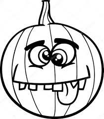 black and white cartoon ilration of funny jack lantern pumpkin coloring page vector by izakowski