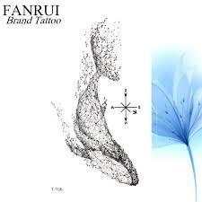 симпатичные геометрия китов татуировки наклейки дельфин переноса воды рыба