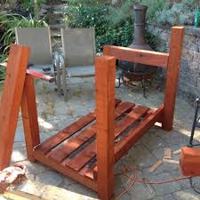 picture of treat the wood and assemble the frame