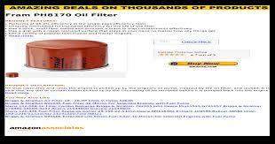 Emgo Oil Filter Cross Reference Chart Fram Ph8170 Oil Filter