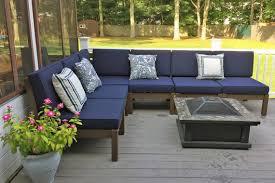 sunbrella outdoor sectional cushion set