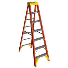 werner 7 ft fiberglass step ladder with 300 lb load capacity type ia duty rating 6207 the home depot