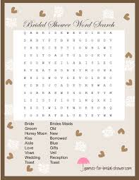 Wedding Bingo Words Free Printable Word Search Game For Bridal Shower
