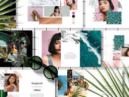 photo collage template powerpoint portarica powerpoint template by dhika supangestu dribbble