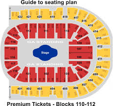 London O2 Arena Guide To Seating Plan