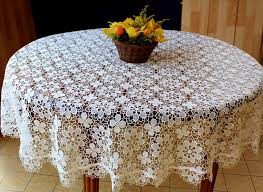 lace tablecloth amaryllis