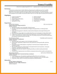 public relations resume example resume public relations resume