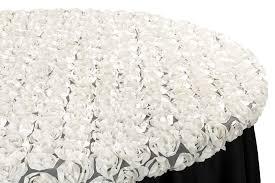 rosette on mesh table topper cap 60 round ivory