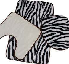 Zebra Bathroom Rug Aliexpresscom Buy Zebra Print Black And White Bath Mat Toilet