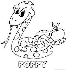 Poppy Naam Kleurplaten