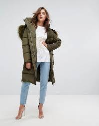 boohoo faux fur hood padded coat g87r9 for women