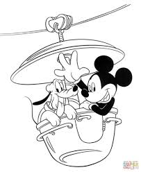 Mickey Mouse Coloring Pages Free With Dog Page Pluto For Kids Minnie