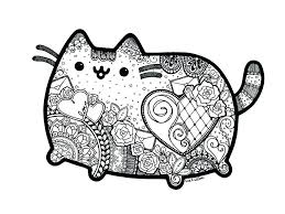 Pusheen Cat Unicorn Coloring Pages 4 Haljinezamaturu