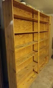 custom made pine shelving unit