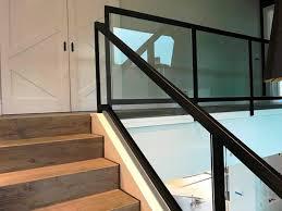 glass stair railing interior