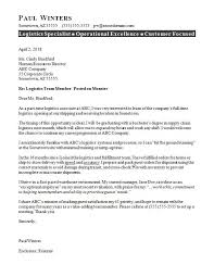 Excellent Cover Letter Examples For Customer Service