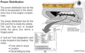 need help location of the fuse boxs and overview of fuse for the record yesterday qsilver7 posted a nice glovebox fuse finder diagram e39 1997 2003 > e39 still running key out