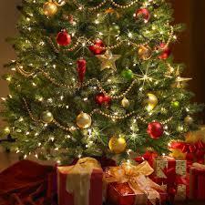 ... Beautiful Home Christmas Tree Decoration Ideas : Awesome Christmas Tree  Decoration With Circular Beads Round The ...