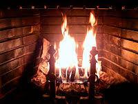 Wood-burning fireplace