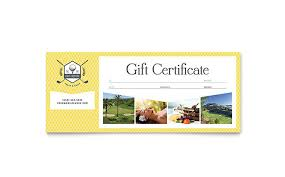 Word Gift Card Template Golf Resort Gift Certificate Template Word Publisher