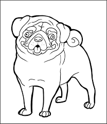 printable pug coloring s home throughout fabulous cute pug puppy