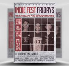 Newspaper Flyer Template Indiefest Fridays Flyer Template Flyerheroes