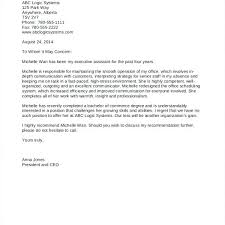 Recommendation Letter Example Employment Reference Sample