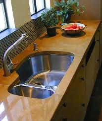 Kitchen  Concrete Countertop With Sink Countertop Materials Concrete Sink Kitchen