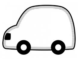 車の形の白黒フレーム飾り枠イラスト 無料イラスト かわいいフリー素材
