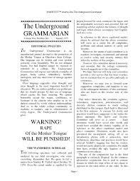 Calameo The Underground Grammarian Volume 01