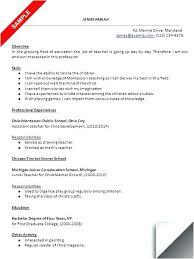 Preschool Teacher Resume Samples Preschool Teachers Aide Resume ...