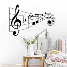 Vinyl Music Notes Wall Decal Lettering Words Quote Wall Sticker New