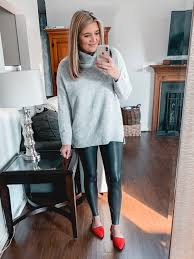 over 20 spanx leather leggings outfits