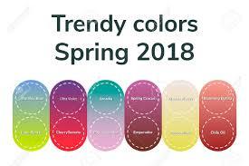 ベクトル図インフォ グラフィック流行色春 2018グラデーション
