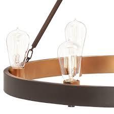 kichler lighting covington 24 49 in 6 light olde bronze rustic hardwired candle standard chandelier lowe s canada