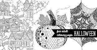 Small Picture Free Halloween Adult Coloring Pages U Create