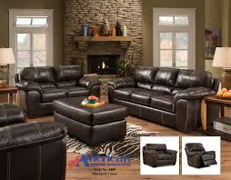 Pc Living Room Set American 5400 Blackjack Cocoa 3 Pc Set Sofa Loveseat And Rocker
