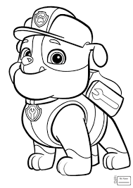 Paw Patrol Coloring Pages Timykids Singular Everest Badge Ryder