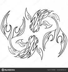 икона рыбы на белом фоне зодиака астрология векторное