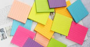 tus notes amazon bright color lined sticky notes self stick notes 3 in x 3 in