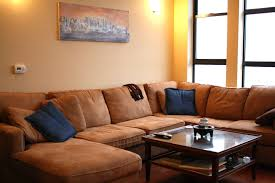 Apartment Modern Decorating Ideas Using Cream Leather Sectional Coffee Table Ideas For Sectional Couch