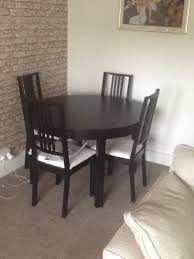 ikea round table and four chairs