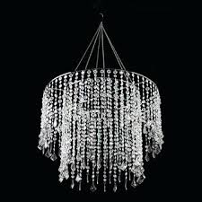 crystal beaded chandelier crystal beaded chandelier with light kit in clear dalila crystal beaded chandelier