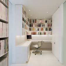 home office modern home. Example Of A Minimalist Built-in Desk Home Office Design In DC Metro With  White Modern O