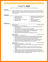 7 Delivery Driver Resume Mla Cover Page