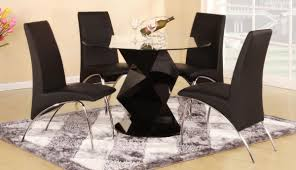 chairs black modern dining table montserrat home design black kitchen set for image of contemporary